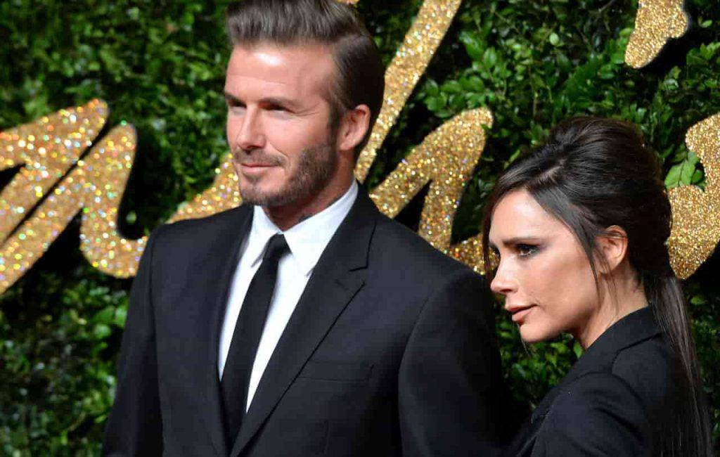 Beckham lite in casa (Getty Images)